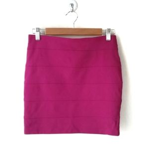 Forever 21 Pink Bodycon Stretch Mini Skirt